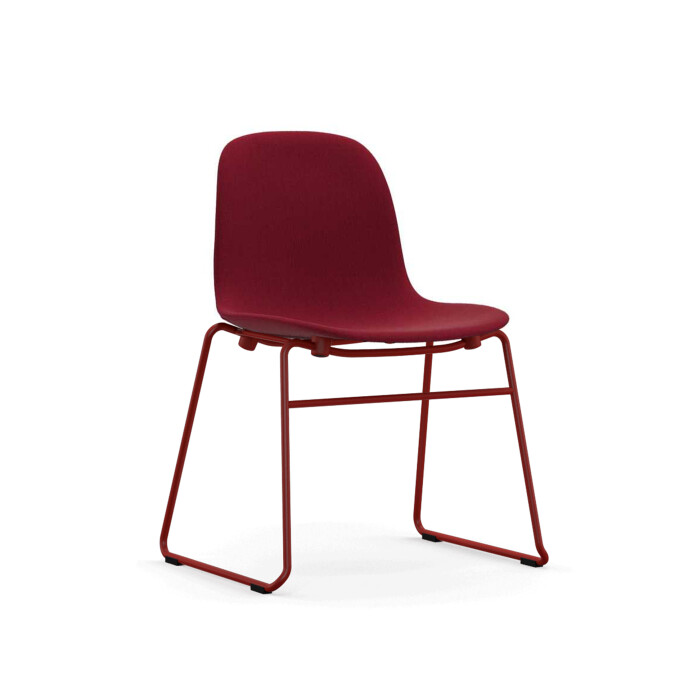 Form Red Steel Chair (Immediate Delivery)